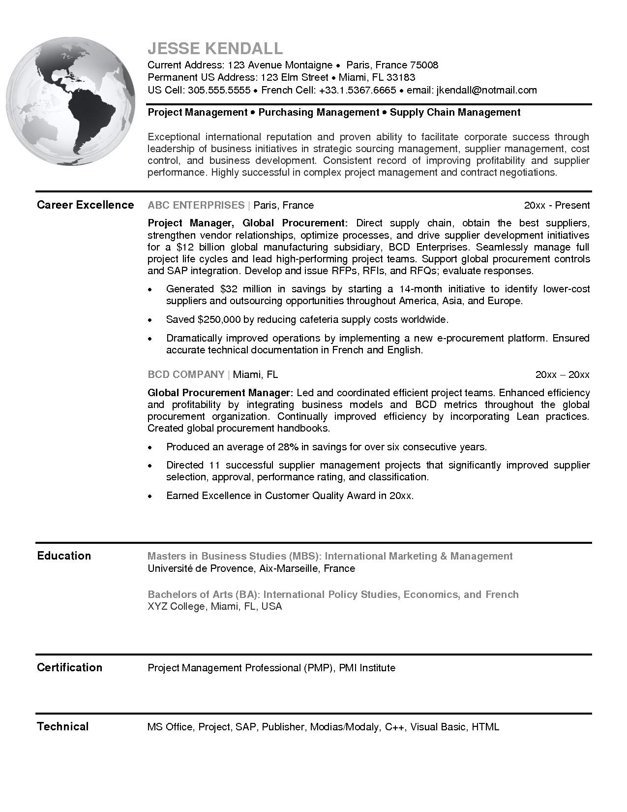 Sample Resume for Procurement Officer Procurement Resume Sample Resume Ideas