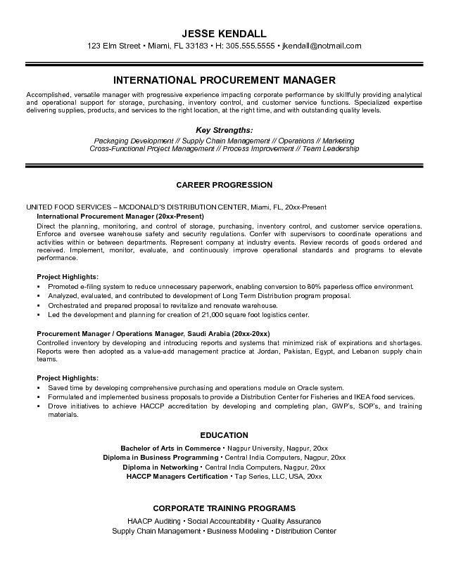 procurement resume