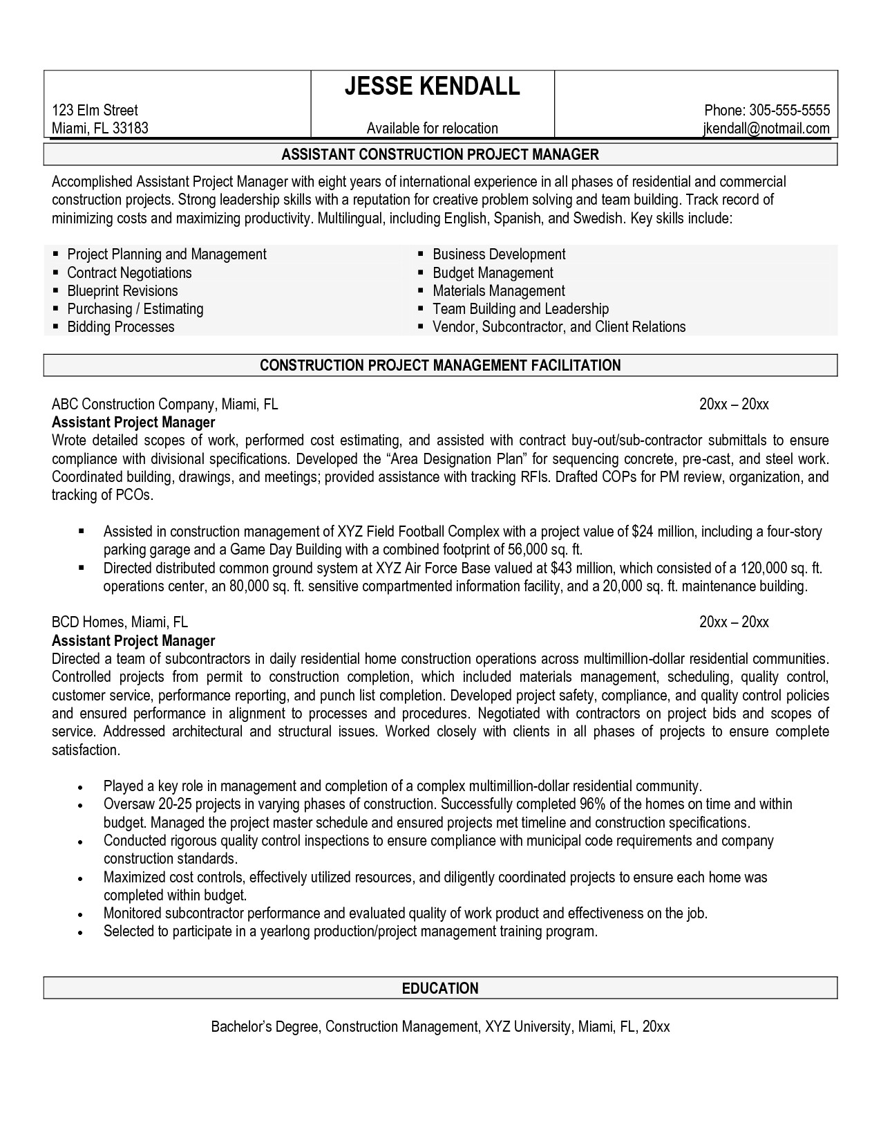 software project manager resume sample india