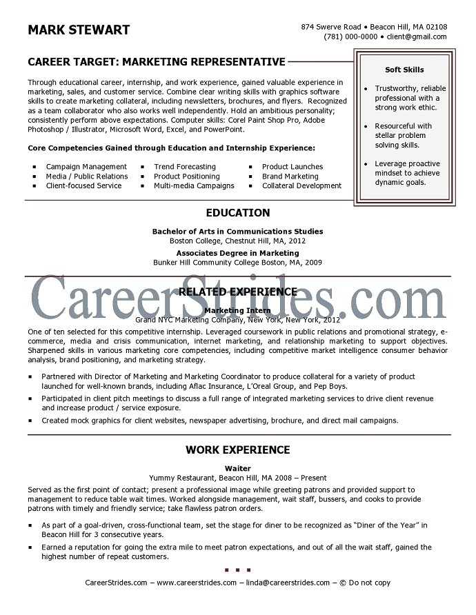 sample resume for recent college graduate