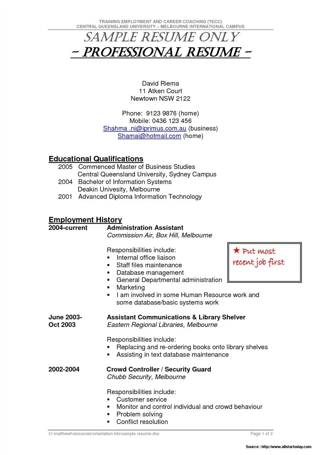 sample resume for security guard pdf