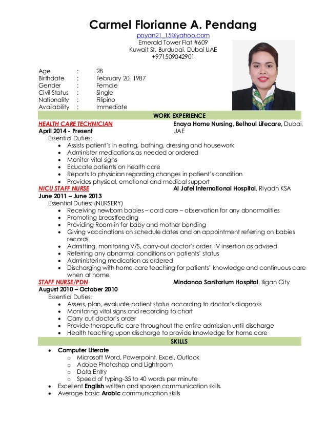 Sample Resume for Staff Nurse Position Nursing Resume New