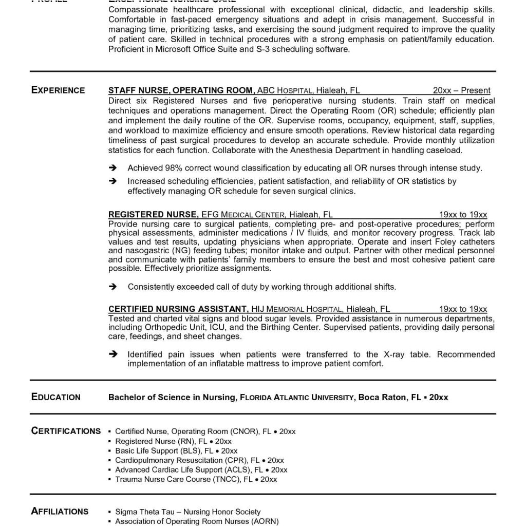 resume for nursing job in india