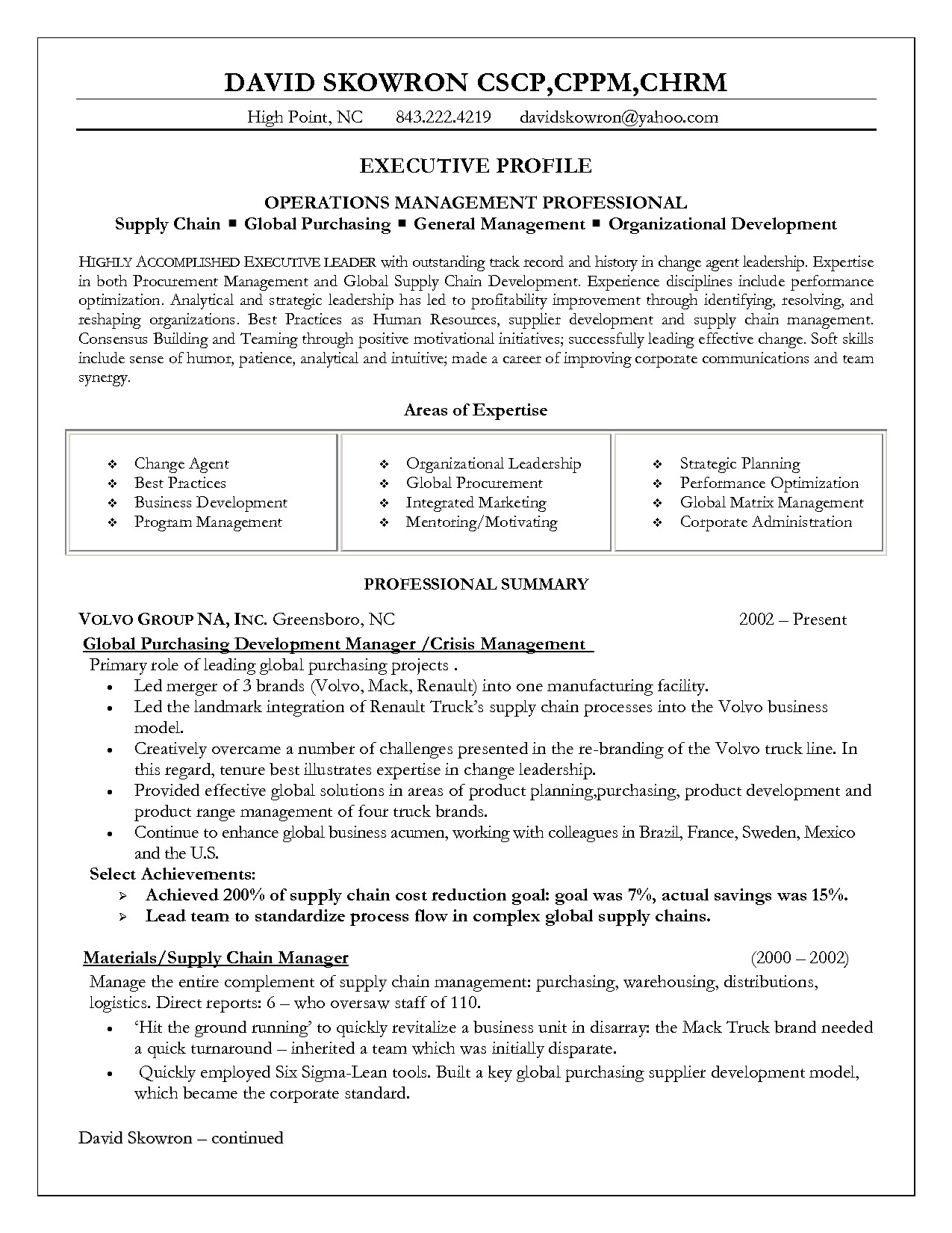 Sample Resume for Supply Chain Management Supply Chain Management Resume Resume Badak