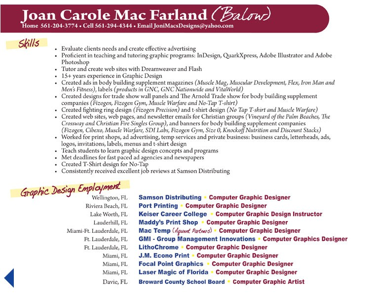 Sample Resume for Web Designer Experience Resume Graphic Design Experience Case Study In Modeling
