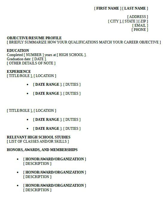 Sample Resume High School Student 10 High School Resume Templates Free Samples Examples