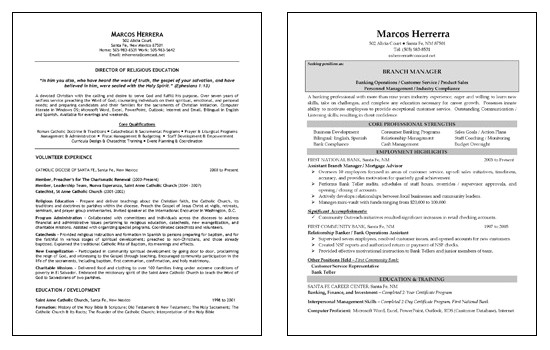 sample resume multiple positions same company