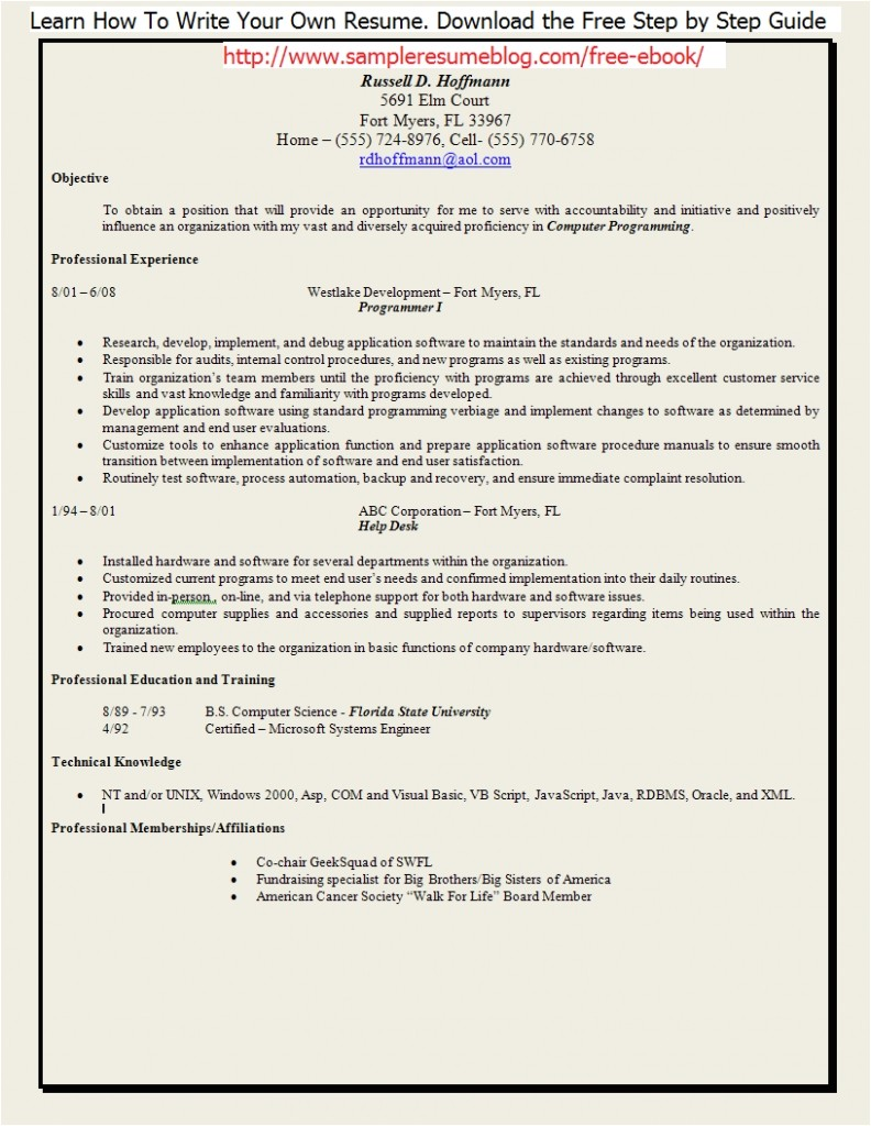 employment gap resume examples