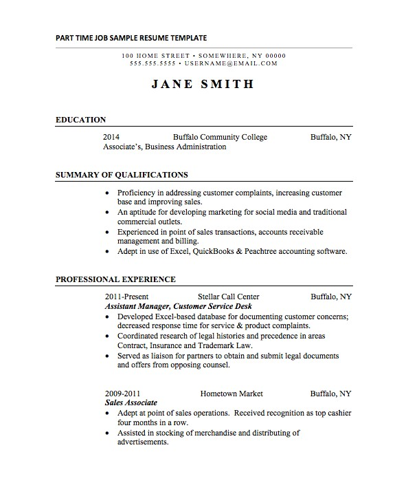 Sample Resume with Only One Job Experience 21 Basic Resumes Examples for Students Internships Com