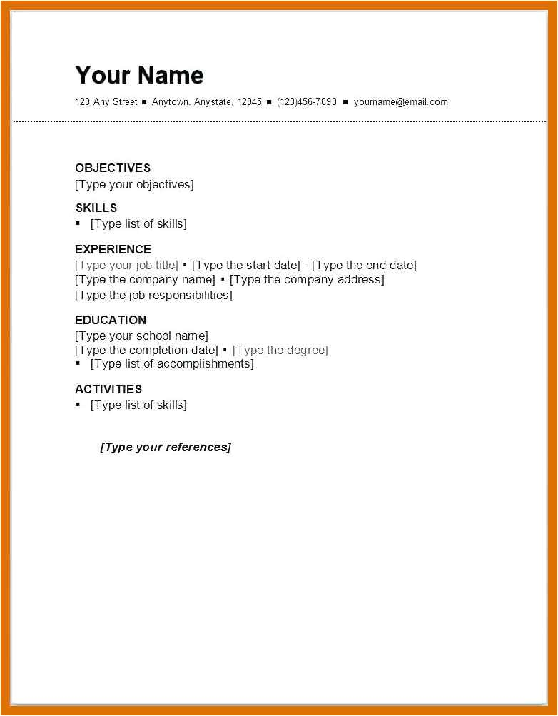 3 4 sample resume with one job experience
