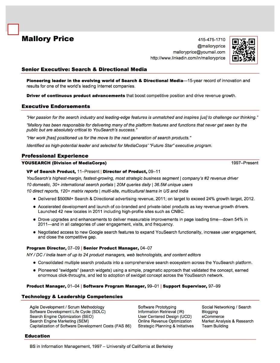 Sample Resume with Qr Code Bringing Your Resume Into the 21st Century Bluesteps