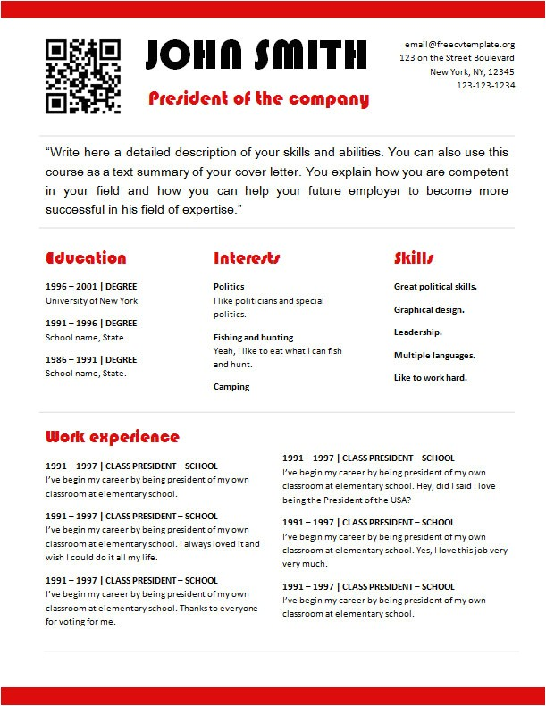 free cv template 747 to 754