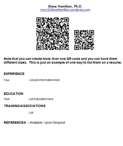 how to use qr codes on your resume and business cards