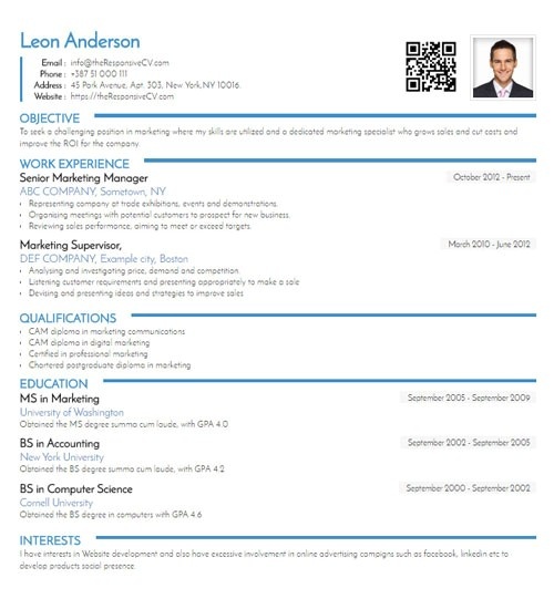 should you include qr code on resume