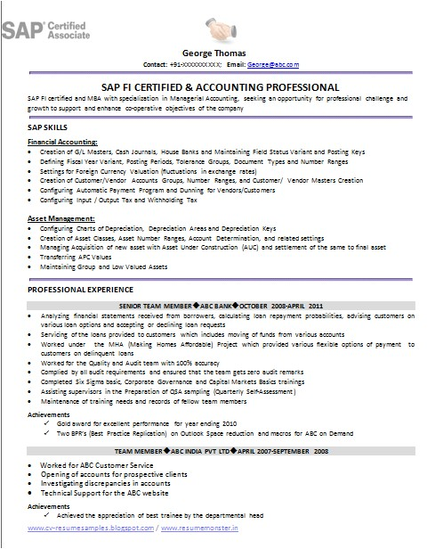 Sample Resume with Sap Experience Over 10000 Cv and Resume Samples with Free Download Sap