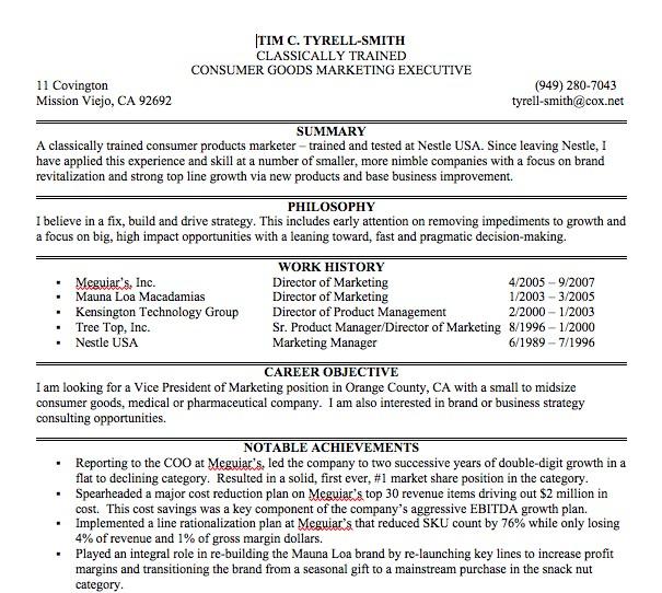 post professional resume bio 84887