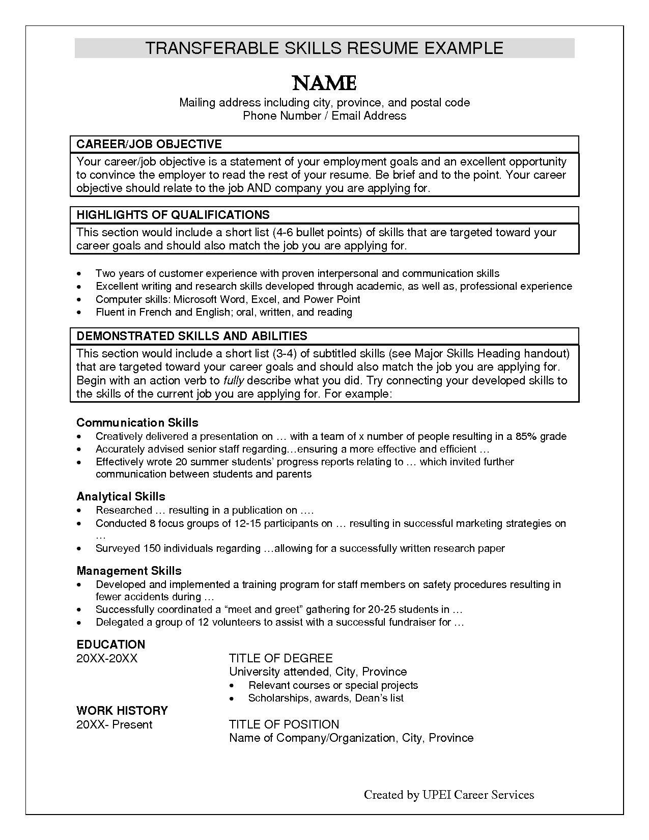 Sample Skills for Resume Housekeeping Supervisor Resume Template