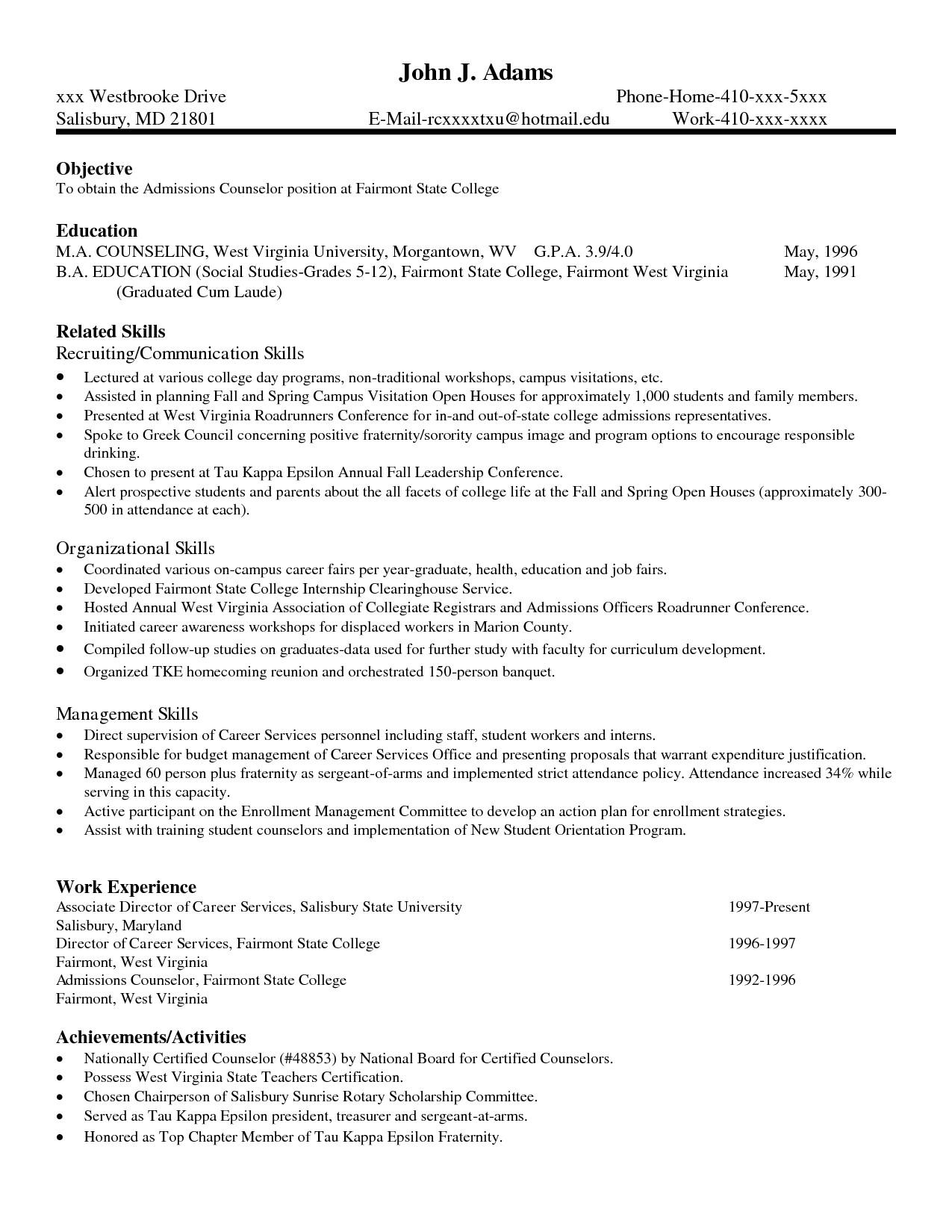 Sample Skills for Resume Skills Resume Free Excel Templates