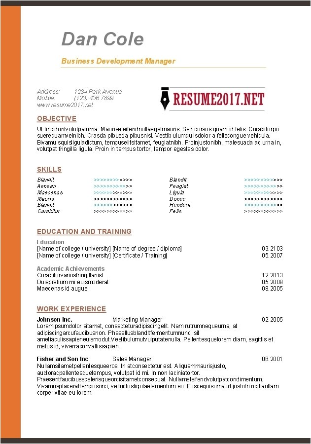 Samples Of Resumes 2017 Free Resume Templates 2017 Resume Builder