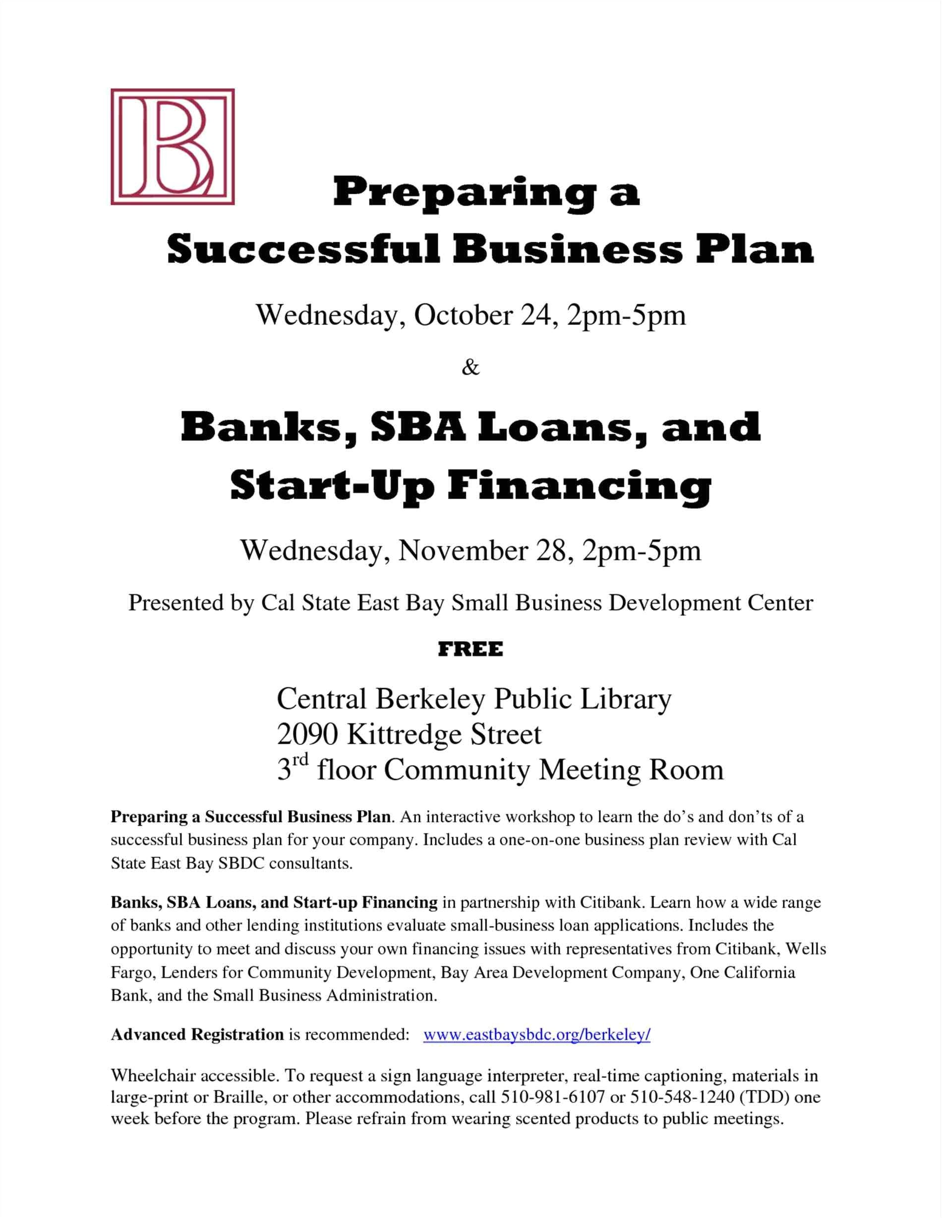 sba business plan template