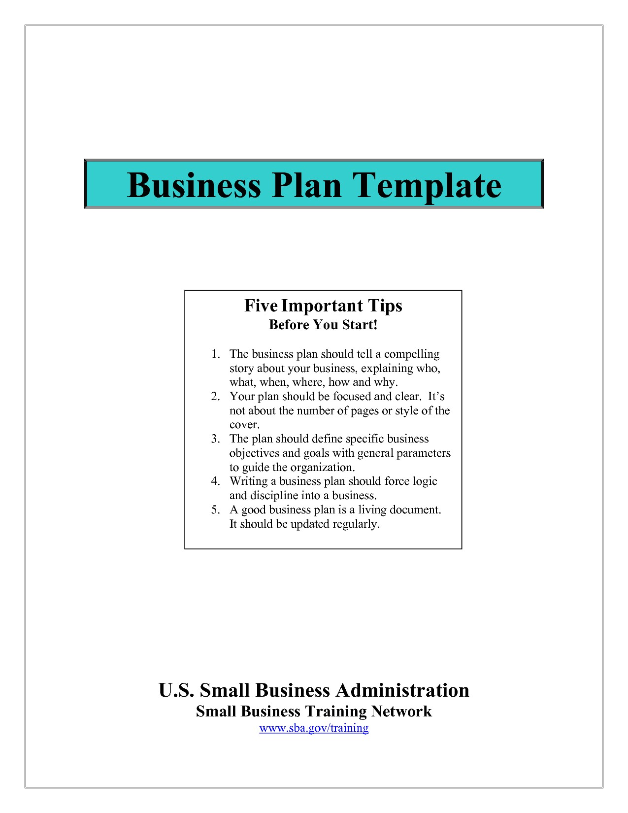 Sba Business Plan Template Pdf Sba Business Plan Template E Commerce