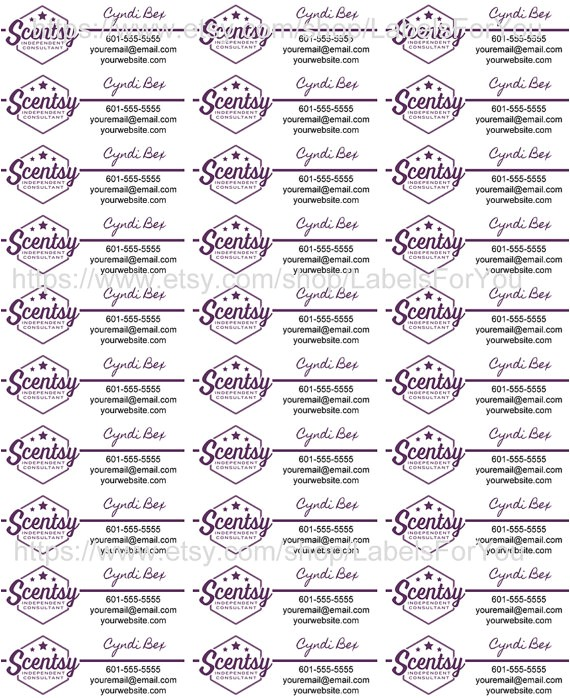 Scentsy Avery Label Template Scentsy Label Template 1500 Printable Label Templates