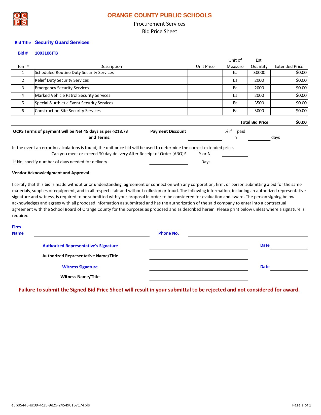 Security Guard Proposal Template 10 Best Images Of Security Contract Proposal Template