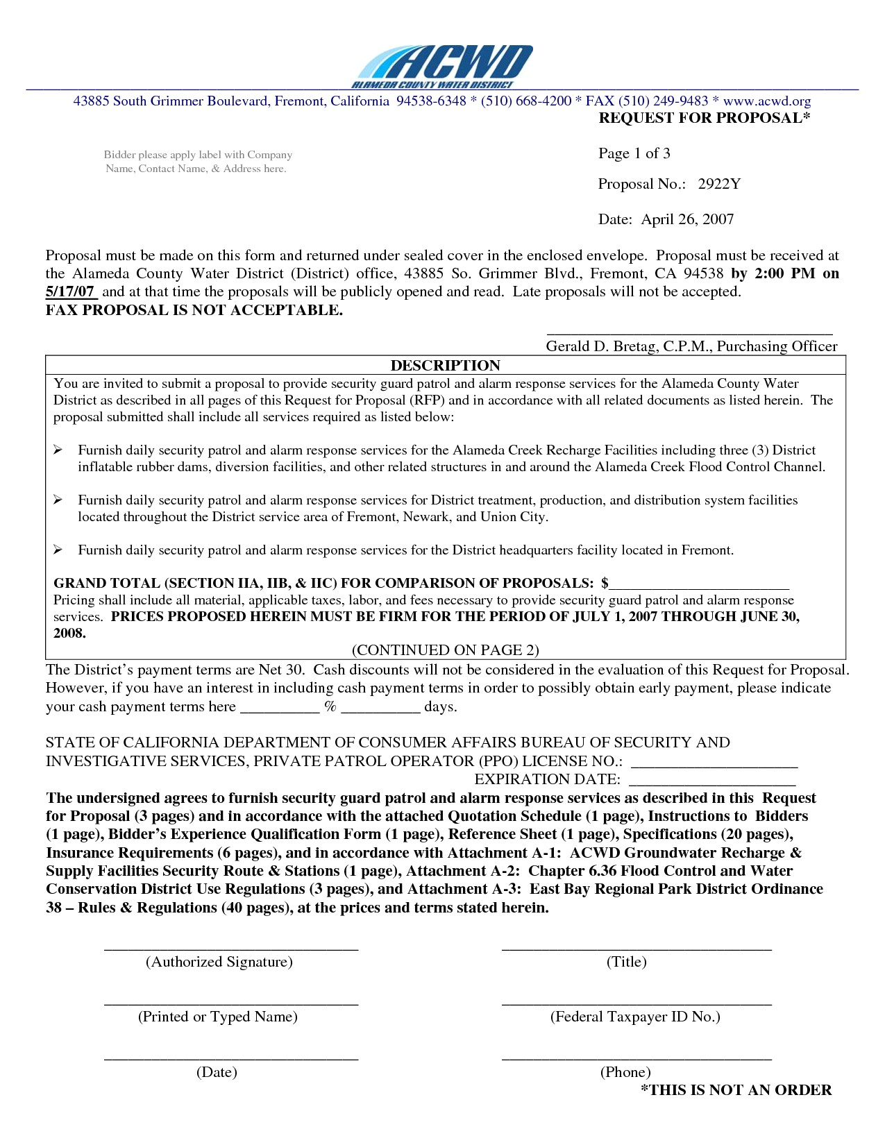 Security Guard Proposal Template 8 Best Images Of Security Proposal Letter From Company