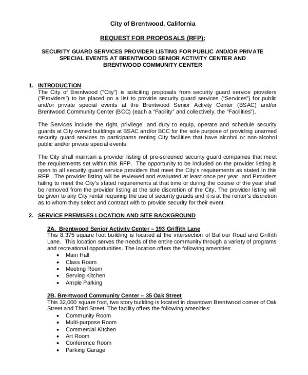 Security Guard Proposal Template Start A Security Company License Contracts Proposals