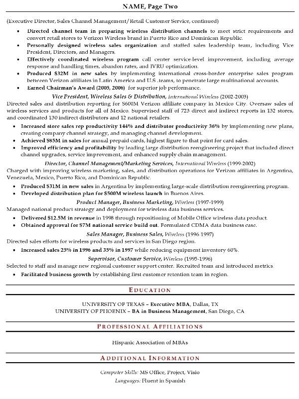 resume sample 13 senior sales executive