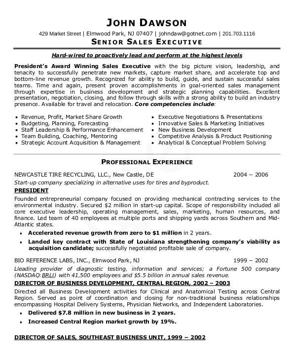 sales resume