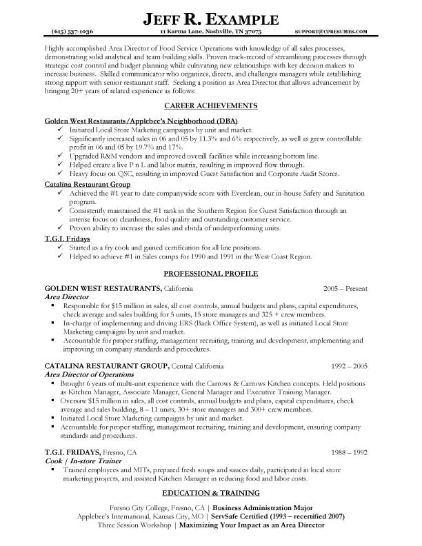 Service Industry Resume Template Resume Samples Types Of Resume formats Examples Templates