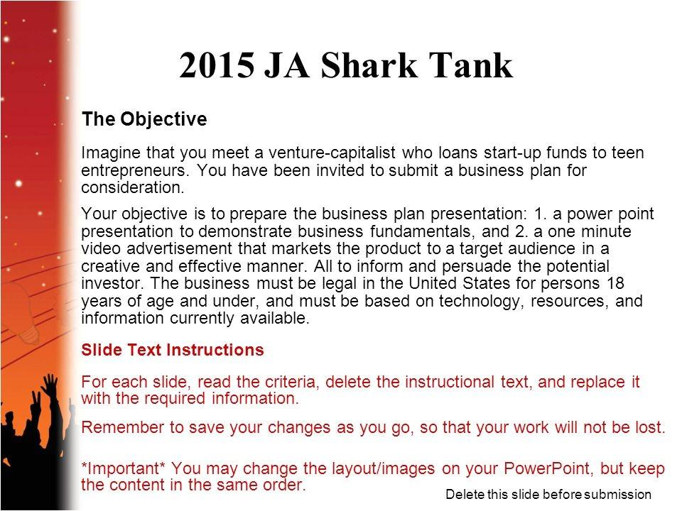 Shark Tank Business Plan Template Business Plan Ppt In Entrepreneurship Powerpoint Template