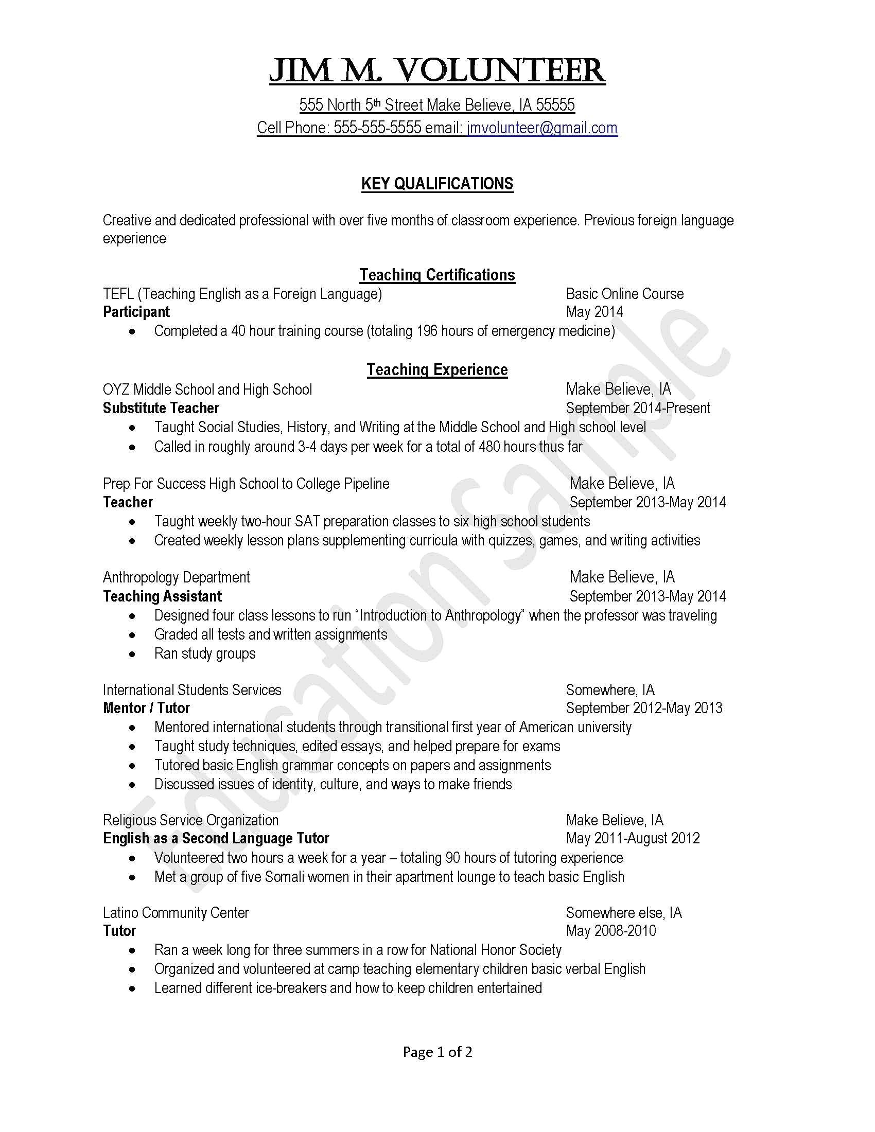 shidduch resume sample