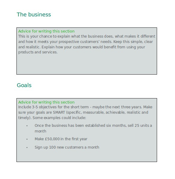 business plan template free word format printable docx