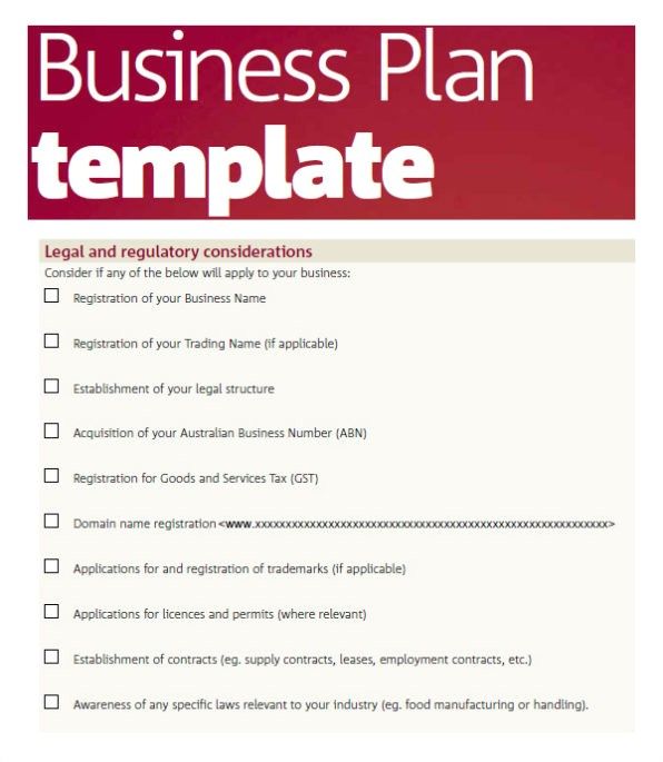 business plan template word excel