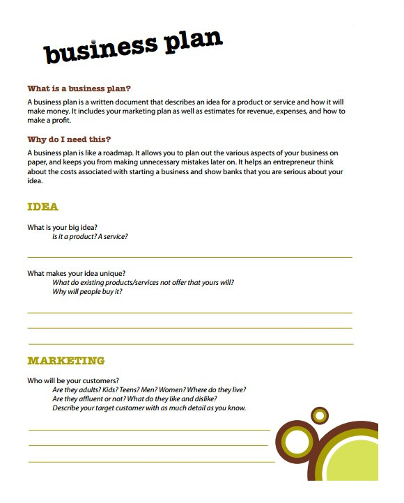 Simple Free Business Plan Template 21 Simple Business Plan Templates Sample Templates