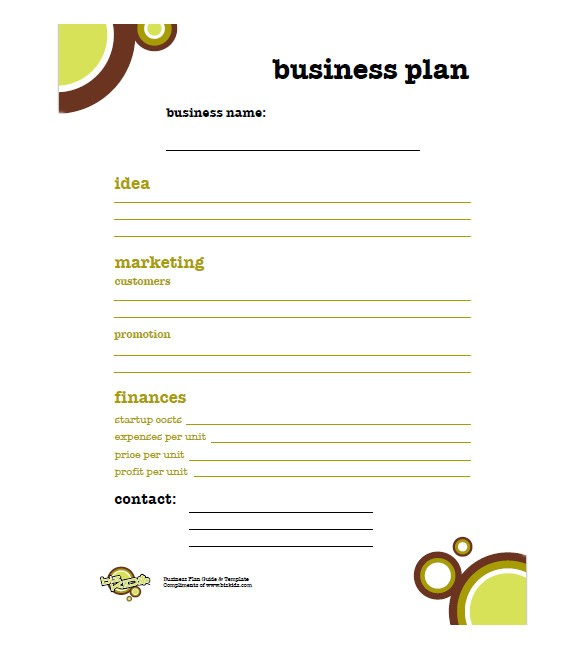 Simple Free Business Plan Template Simple Business Plan Template 14 Free Word Excel Pdf