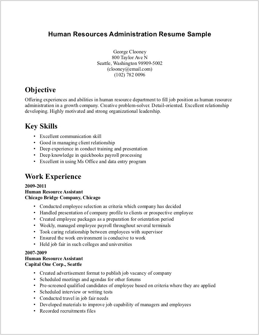 Simple Resume Sample without Experience Best Resume Examples