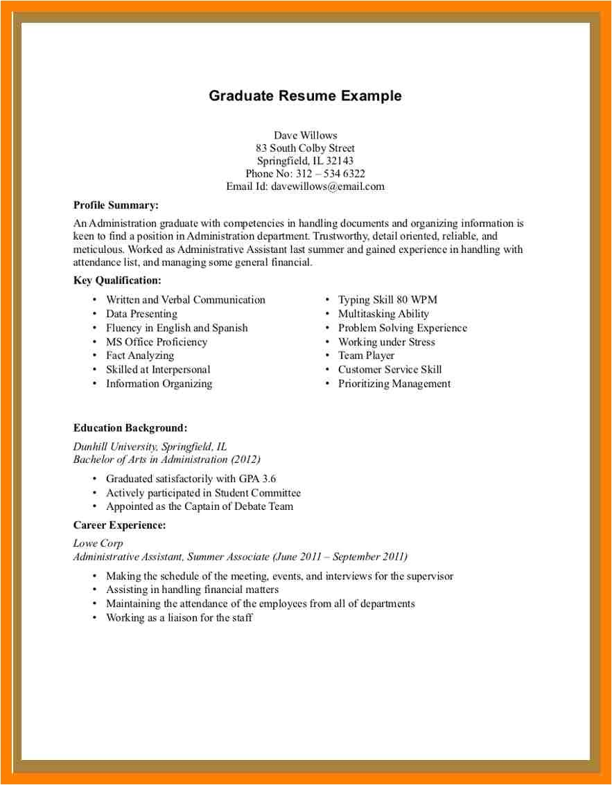 examples of a simple resume