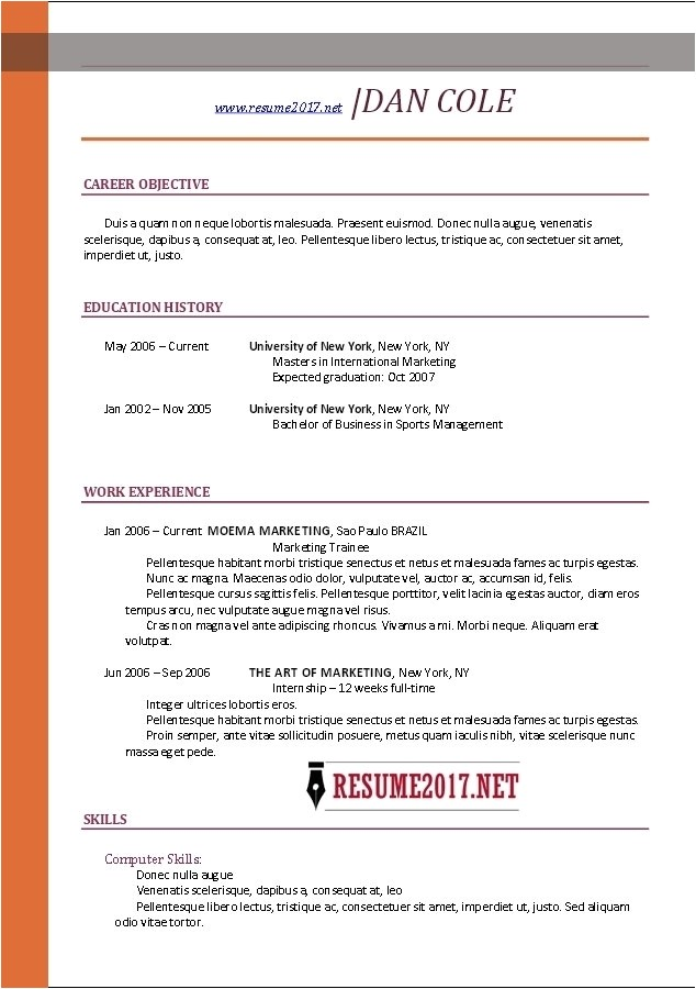 Simple Resume Template Download Job Resume Template 2017 Learnhowtoloseweight Net