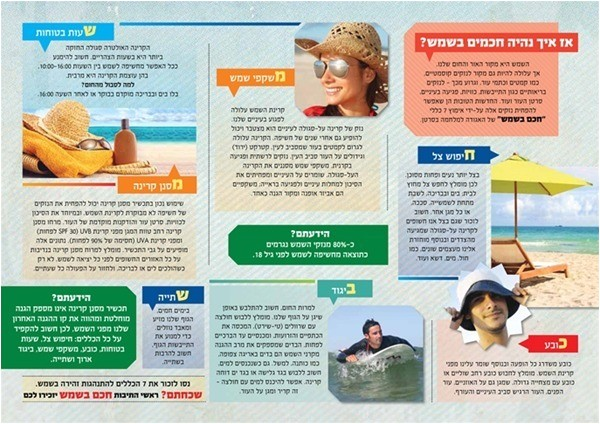 skin cancer brochure the israel cancer association skin cancer awareness week kick printable
