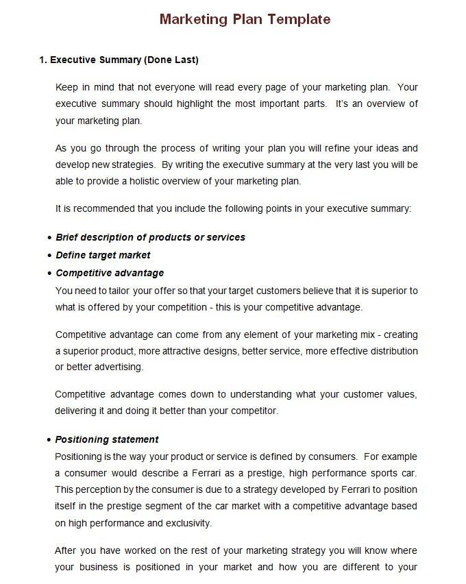 annual marketing plan template