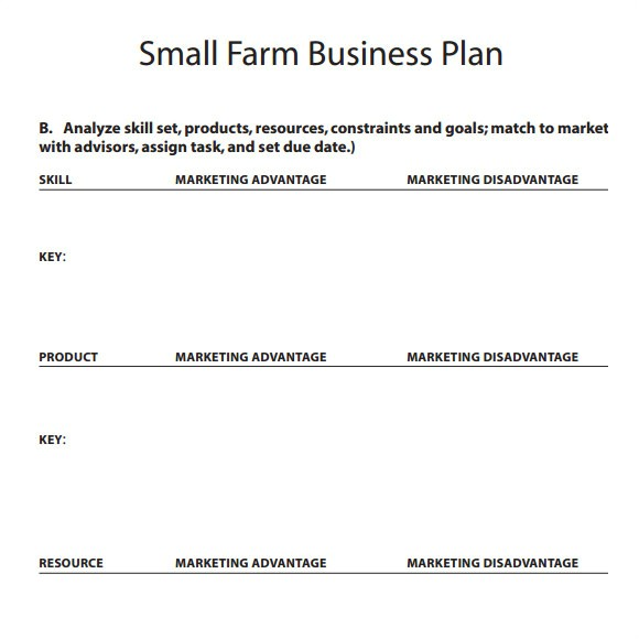 Small Farm Business Plan Template 17 Small Business Plan Samples Sample Templates