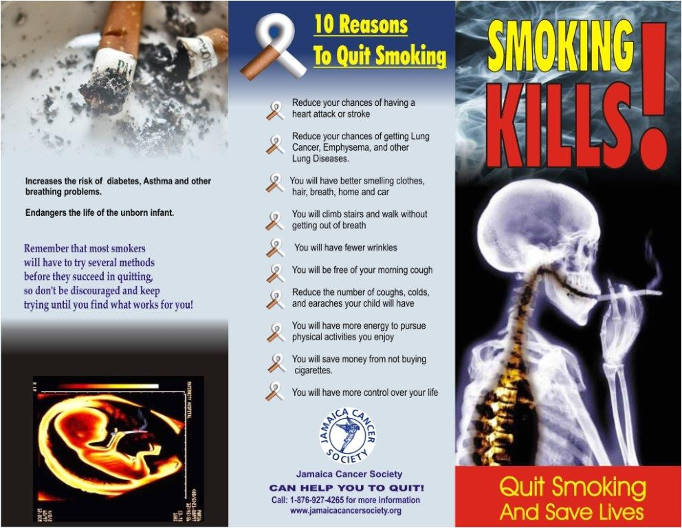 Smoking Brochure Template Resources Jamaica Cancer society
