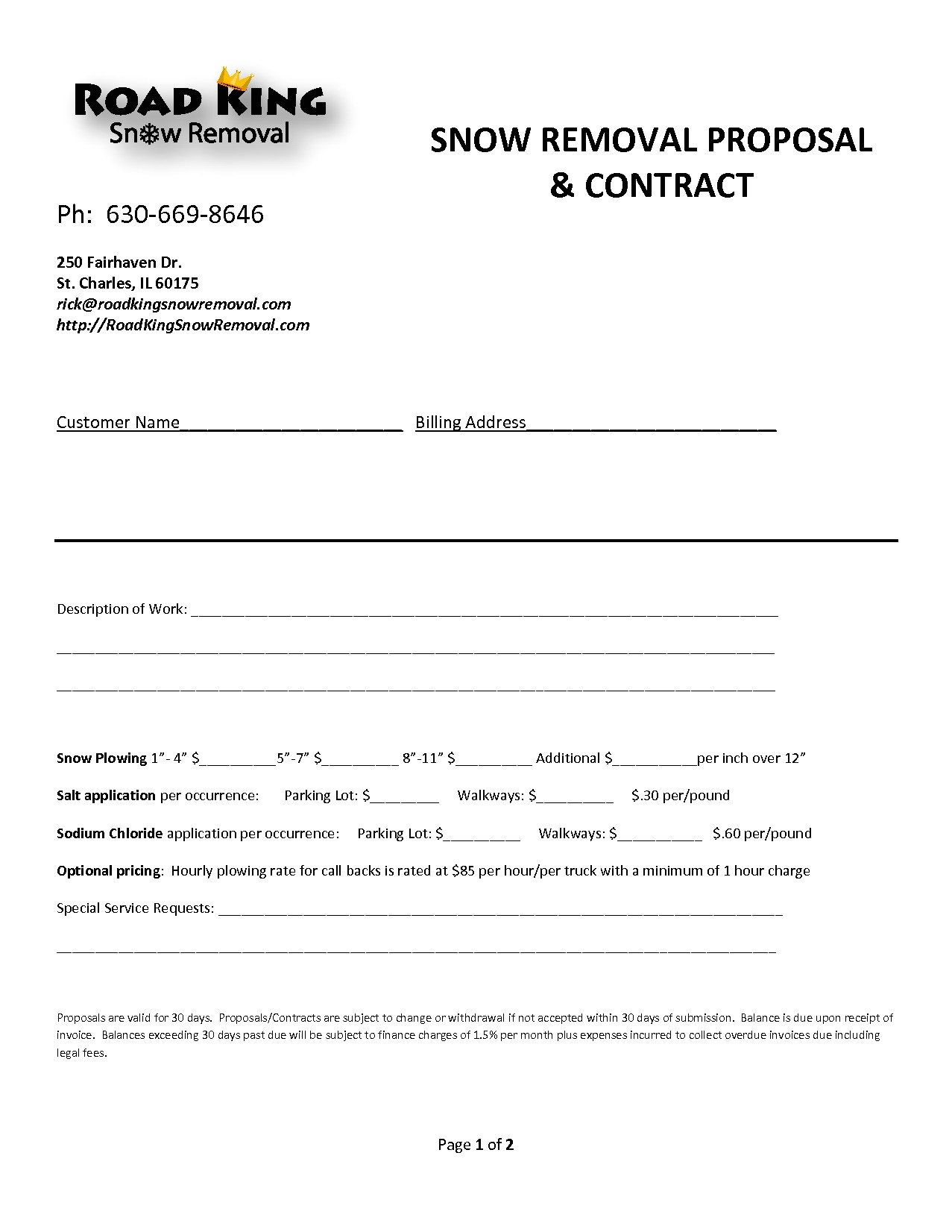 Snow Plowing Bid Proposal Template 8 Snow Removal Contract Template Timeline Template