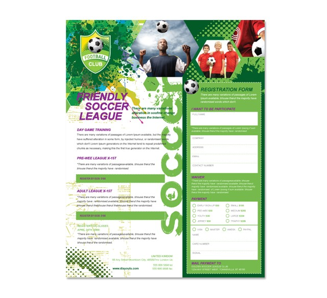 soccer club flyer template