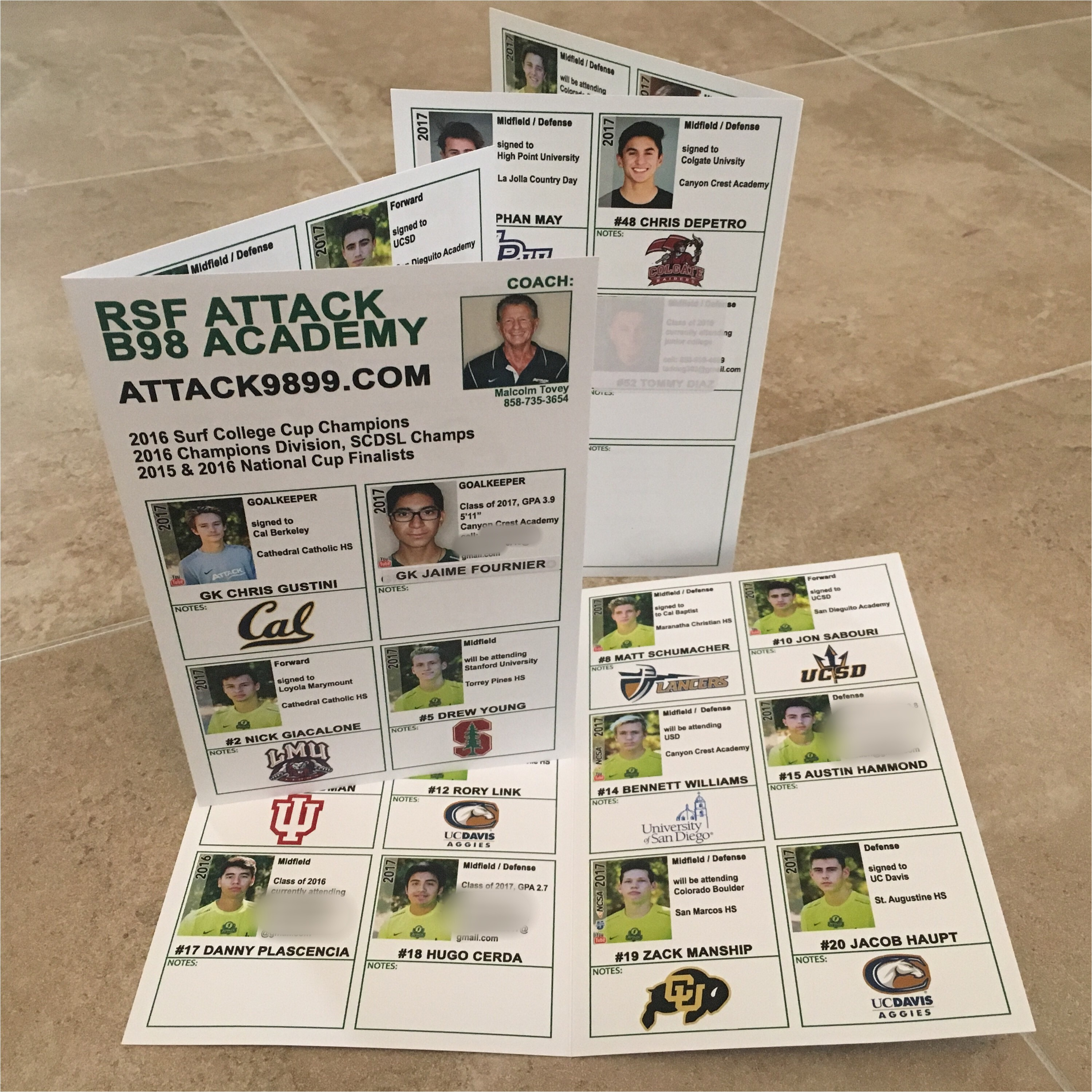 Soccer Team College Recruiting Brochure Template College Showcases Anatomy Of the Perfect Recruiting Flyer