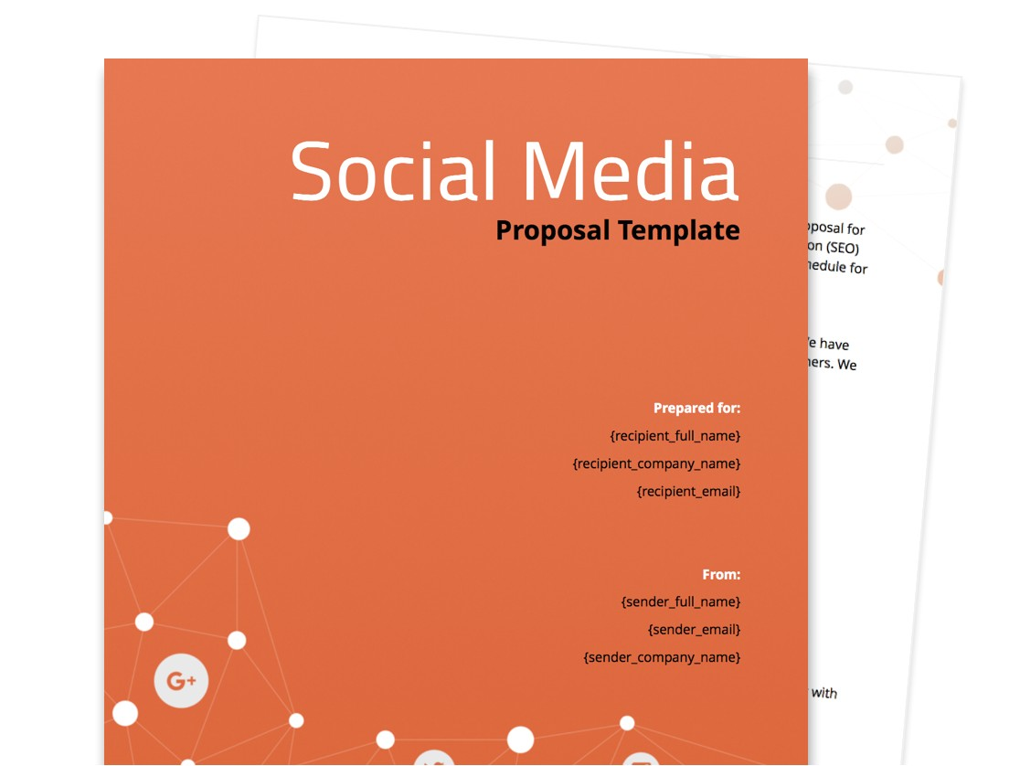 Social Media Marketing Proposal Template Free Free Business Proposal Templates