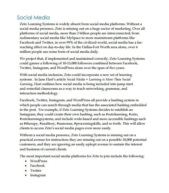 Social Media Marketing Proposal Template Free Marketing Proposal Templates 26 Free Word Excel Pdf